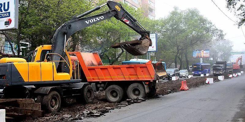 Демонтаж дорожных покрытий, демонтаж асфальта с дорог, заказать, Апрель, группа компаний, СПб, Питер, Санкт-Петербург